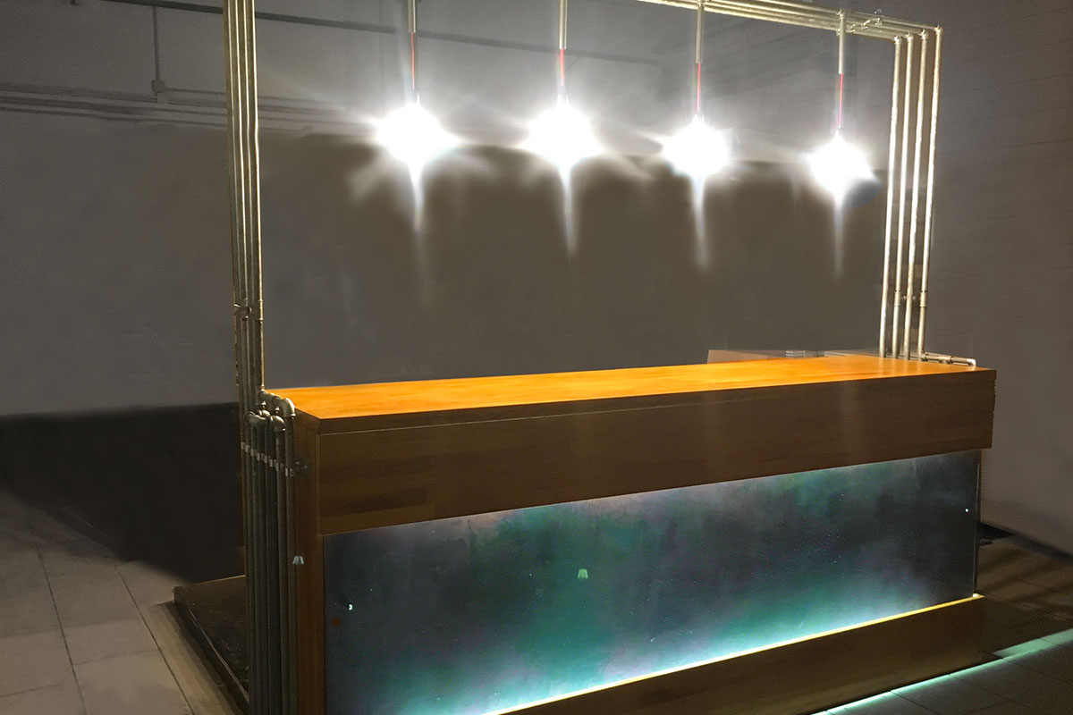 Bar Counter furniture bancone napoli bicycle house galleria umberto davide panarella design