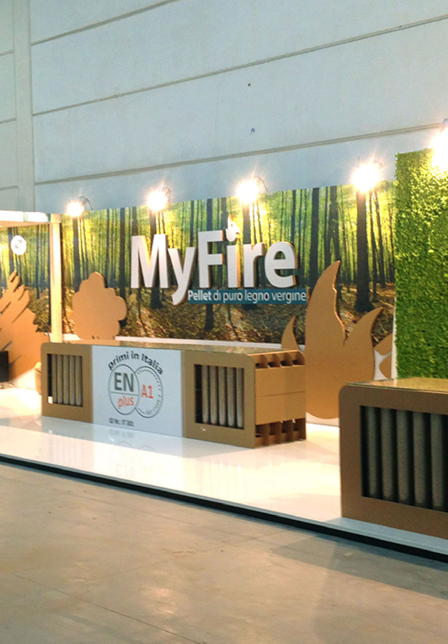 exhibition myfire pellet progetto fuoco project fire 2016 davide panarella design cardboard recyclable